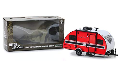 2017 Winnebago Winnie Drop Travel Trailer Red with White Top Hitch & Tow Trailers Series 5 1/24 Diecast Model by Greenlight 18450 B