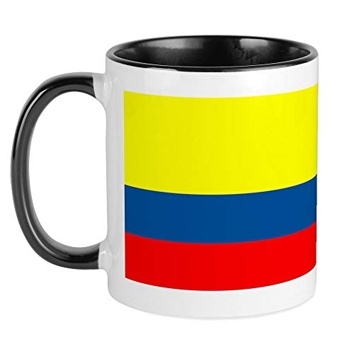 CafePress Kaffeebecher mit kolumbianischer Flagge Small White/Black Inside