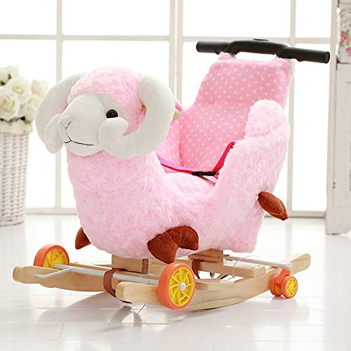 Check Out This Baby Rocking Horse Cute Sheep Rocking Horse Kids Plush Ride-On Rocking Chair Standing...