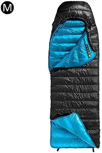 Depruies Erwachsene Outdoor Schlafsack Aktivit n Winter verdickt Reise Camping Einzel tragbar Warm Daunen Schlafsack, Schwarz M