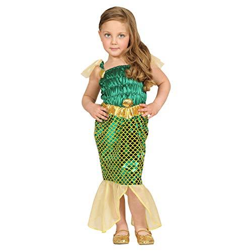 WIDMANN - Disfraz de Sirena y Poseidón para niños, multicolor, 104 cm/2 – 3 años, 48619