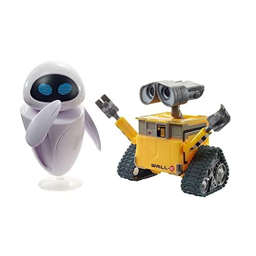 Disney Pixar- Personaggi Wall-E e Eve, Snodati, da Collezionare, Giocattolo per Bambini 3+ Anni, GLX86