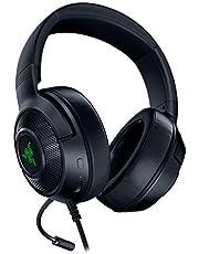 Razer Kraken X Usb - Gaming Headset: Ultralicht Comfort Voor Non-Stop Gaming (7.1 Surround Sound, Flexibele Cardioïde Microfoon, Ultralicht) Zwart, Zwart (USB)