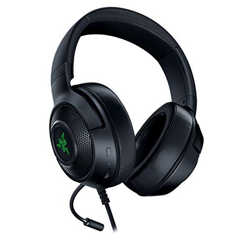 Razer Kraken X USB - Gaming Headset: Digitales Surround Sound Gaming-Headphones (7.1 Surround Sound, Flexibles Kardioid-Mikrofon, Ultra leicht) schwarz