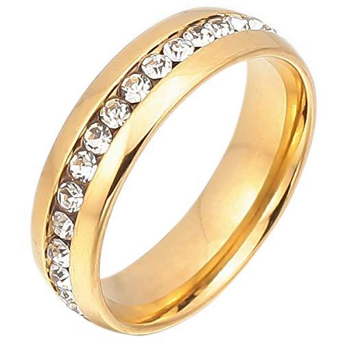MunkiMix Acero Inoxidable Eternidad Eterno Anillo Cz Oro Tono San Valentin Talla 30 Hombre