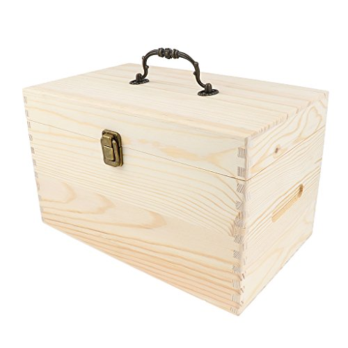 Homyl 56 Slots Essential Oils Storage Box Multi Tray Wooden Organizer...