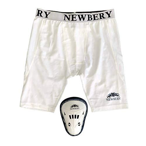 Newbery Cricket-Kompressionshose mit Bauchschutz, Größe M, Weiß