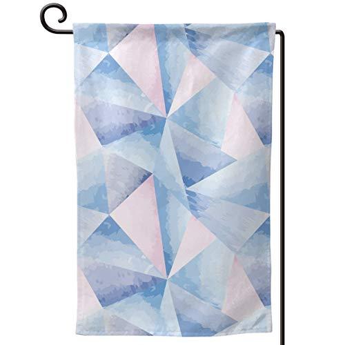 Rxi9s - Bandera de jardín con triángulo geométrico para exteriores, Cuadrado., tamaño único