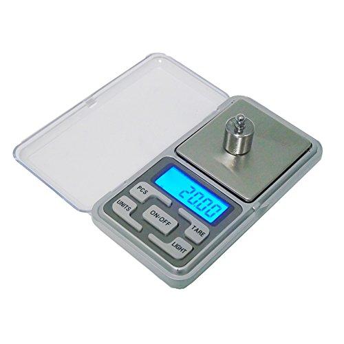 Gaoominy 200g x 0.01g bascula Digital Bascula de Joya Herramientas de Peso de Bolsillo de medicion de de Alta Precision Pantalla LCD