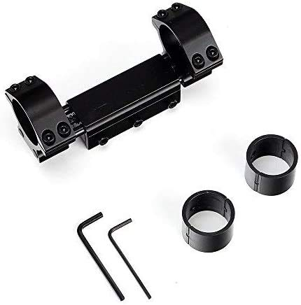 WINFREE High Profile Zero Recoil Mount,25.4mm 30mm Rifle Scope Rings, Fits Picatinny Weaver Rail with Stop Pin