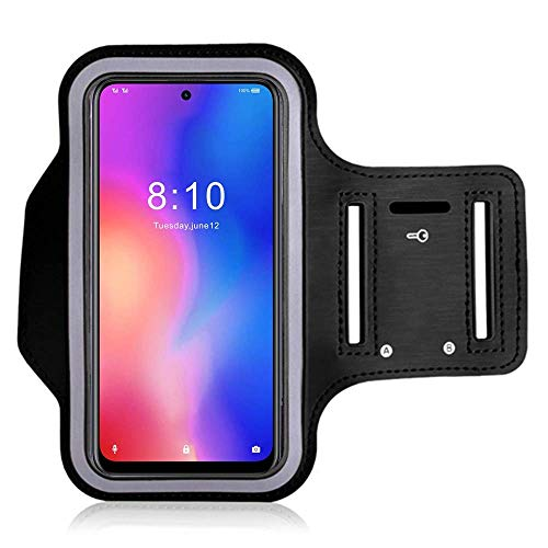 "Running Armband for Apple iPhone 12 Mini 5.4"" Adjustable Sport Phone Arm Case for CUBOT Note 7 / Ulefone Note 8P for Outdoor Exersise Biking with Key Holder (4.8''-5'')"