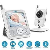 GHB Baby Monitor Videocamera Schermo LCD da 3,2 Pollici 11150mAh Batteria Citofono Bidirez...
