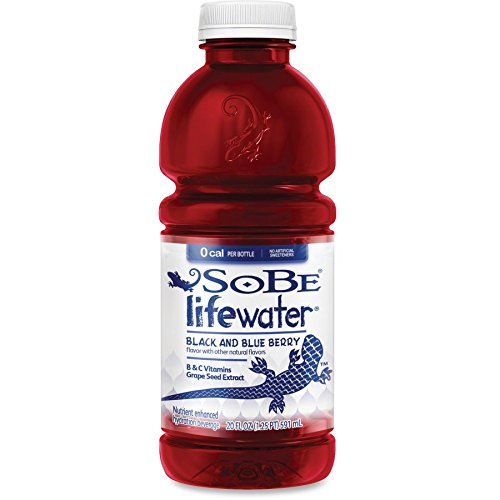 SoBe Lifewater 0 Calories, Black & Blue Berry, 20-Ounce Bottles (Pack of 12)