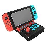 アーケードコントローラー Switch専用 リアルアーケードスティック ミニ 格闘ゲーム 連射機能付 Mario/Street Fighter2 対応 ゲーム機