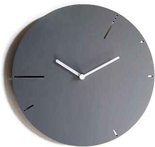 28cm Orologio da muro moderno in legno silenzioso ispirato alla sequenza dei numeri di Fibonacci colorato come grigio sass...