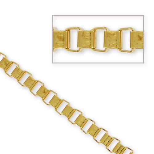 Catena maglia quadrata mm. 3 dorato x1m