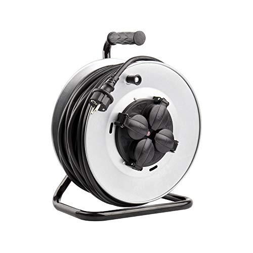 LEDKIA LIGHTING Carrete Alargador de Cable 50m 3x1.5mm IP44 Gris