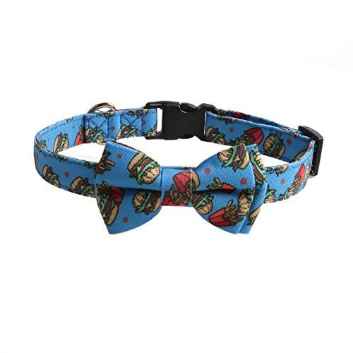 WDM Nuevos productos collares para perros Bowknot collar para perros Serie Pizza Donut