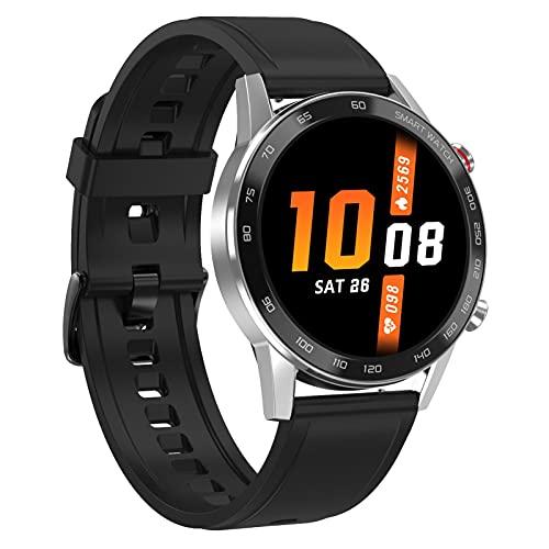 FENGJJ Reloj Inteligente de los Hombres, Reloj Reloj Muñequera Muñeca Smart Watch Impermeable IP68 Pedómetro Deportivo a Prueba de Agua Super Largo Continuación,Plata,Tape