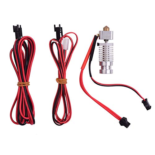 3D Printer All Metal Hotend Extruder Kit with Connection Cable 0.4mm Nozzle Compatible for Robo R1 R1+ Printer 1.75mm Filament 3D Printing Accessories