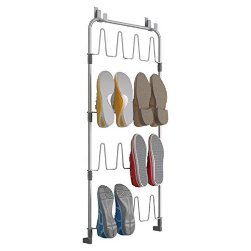Metaltex Türregal für Schuhe, Silber, 103 x 5 x 45 cm