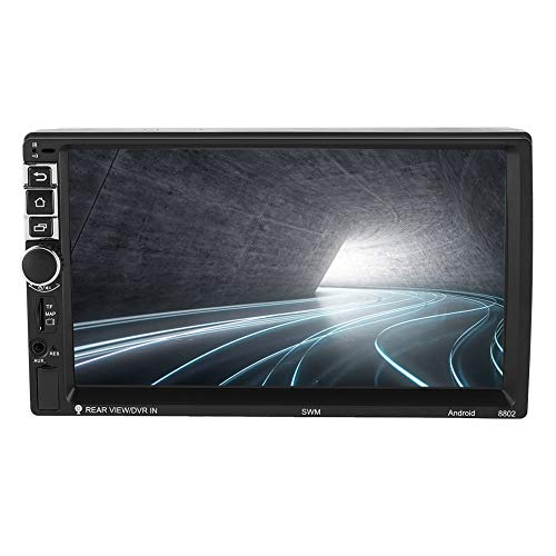 Dubbel din autoradio met navigatie 7 inch 2 din autoradio audiospeler Bluetooth auto multimedia MP5-speler voor Android 7.1, Wifi / 3G-netwerk, ondersteuning voor Bluetooth handsfree bellen
