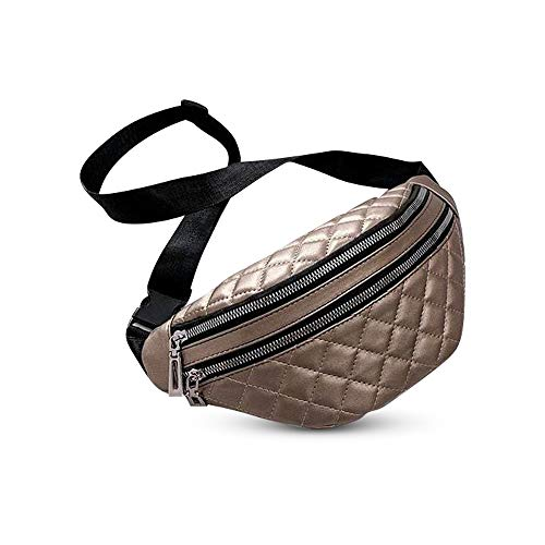 Bolso Riñonera de Moda Bandolera Cool Ajustable para Mujer Elegante 2 Bolsillos Impermeable Paseo Marcha Viaje Senderismo