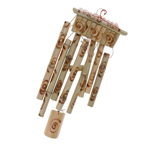 Bamboo Wind Chime Garden - Tubos Grandes De Madera Windchimes Hechos A...