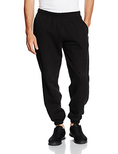 Fruit of the Loom SS031M Pantalon de Sport, Noir, XL Homme