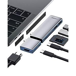 Hagibis USB C Hub Modular Magnetic USB Type-C Hub with 4K@60Hz HDMI, Separated Dual USB-C Adapter for MacBook Pro Air M1…