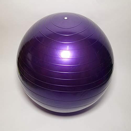 D/A Pelota de yoga profesional (65 cm) con pelota de ejercicios de pilates extra para deportes, estabilidad en el hogar, ejercicios abdominales (morado)