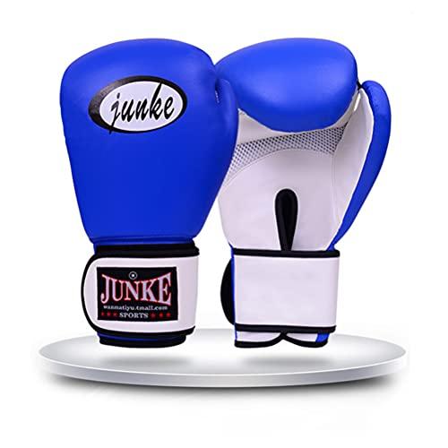 ZBXZM Guantes De Boxeo para Hombres Y Mujeres Entrenamiento Pro Punzonador Bolso Pesado Mits MMA Muay Muay Sparring Sparring Guantes De Kickboxing,Azul,10oz