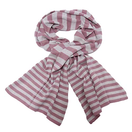 TONALI 1942AC sciarpa donna wool/cashmere pink/grey scarf women [ONE SIZE]