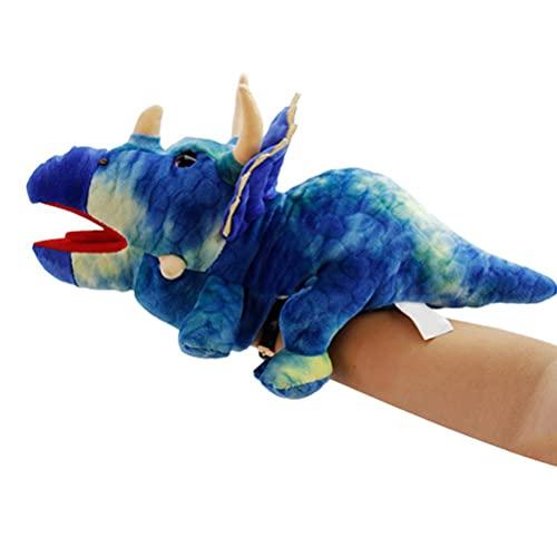 YsaAsaa Marioneta de mano de animales de peluche, juguete de mano de dibujos animados, marioneta de mano de boca abierta de animales – perfecta narración, enseñanza, jardín de infantes