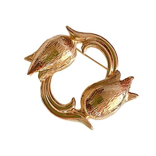Holibanna Alloy Golden Broche Retro Flor All- Match Lapel Badge Pins para Mujeres Niñas DIY Ropa Sombrero Bolsa Joyería Decoración Ramillete Regalos