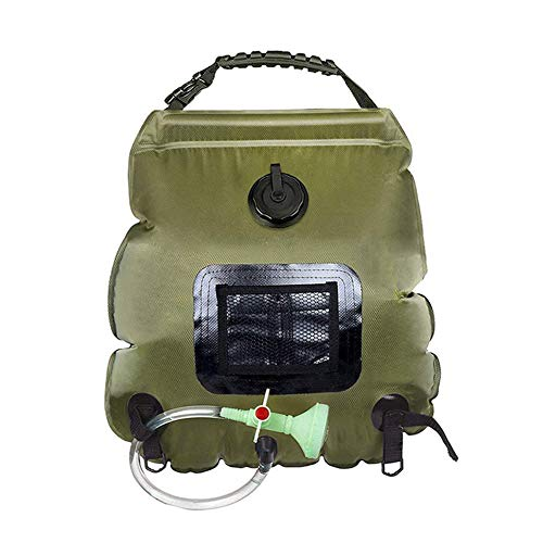 Best Prices! YUFANXIN Solar Camping Shower Bag, 20L Portable Solar Heated Travel Shower Bag with Removable Hose and On-Off Switchable Shower Head Foldable Lightweight.GL-X315