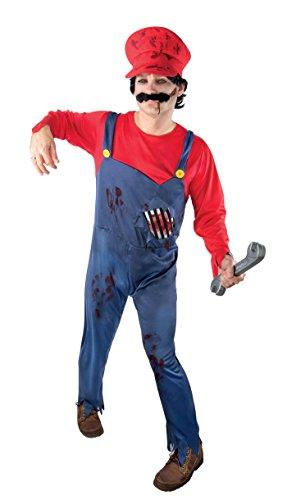 P'TIT Clown re15249 - Costume plombier zombie