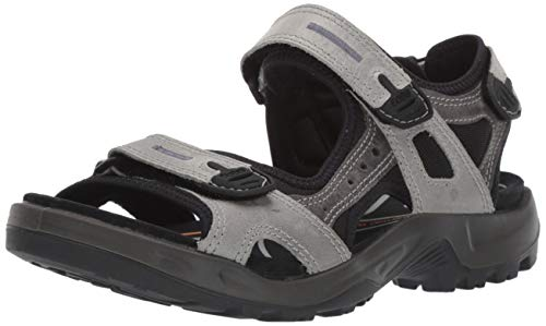 ECCO Men's Offroad Hiking Sandal Sport, Wild Dove/Dark Shadow Oil Nubuck, 8-8.5
