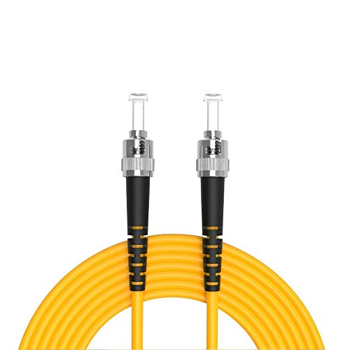 Buacoz 6Meters 20ft ST/UPC-ST/UPC Single-Mode Fiber Optic Cable ST to...