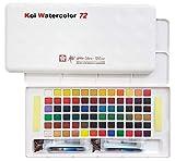 Caja de dibujo con acuarelas de bolsillo, 72 colores variados, acrílico, multicolor, de la marca Sakura Koi