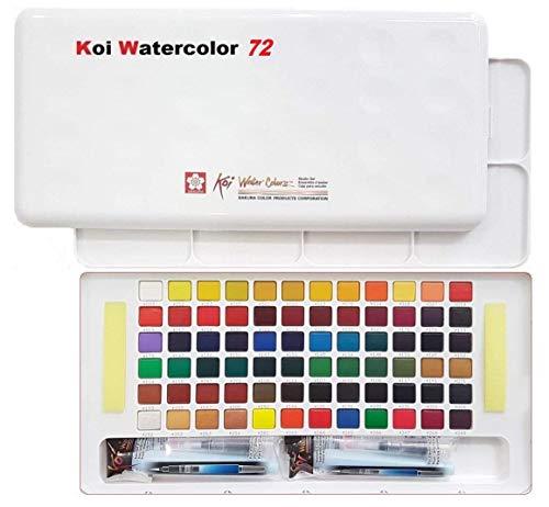 Sakura Koi Aquarell Pocket Field Sketch Box 72 Farben, Farben Sortiert Acryl, Mehrfarbig