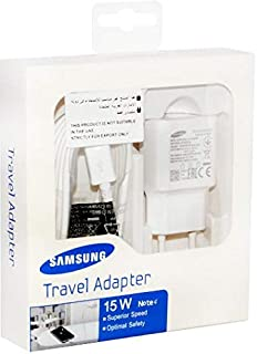 Samsung 15W Home Charger 2 Pin with USB Cable micro For Samsung S4/S6/S6Edge/Note4/Note5/A7 /A5 /A3 /J1 /J5/J7/E5/E7 - White