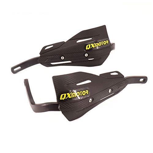 Manillar Guanteletes Guardamanos Protección del Protector 22 de 28 mm de aleación de inserción for KLX KXF KDX Pit Bici de la Suciedad de la Motocicleta Accesorios para Motocicletas (Color : Black)