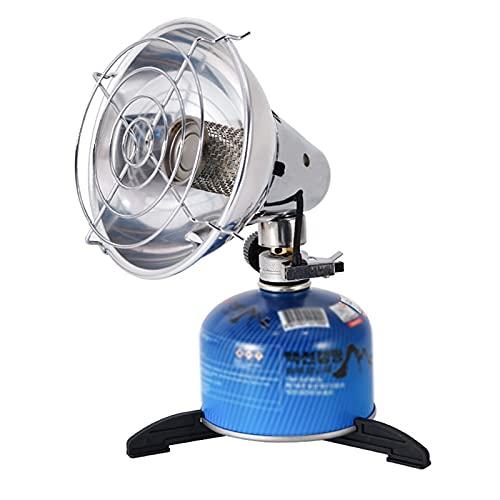 Mini Stufetta Gas Portatile Riscaldanti da Esterno Stufetta Elettrica Regolabile per Interno Patio Stanze Campeggio Pesca 15x14CM