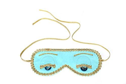 Utopiat máscara para los ojos de seda audrey style en azul turquesa inspirada en BAT's