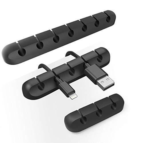 Vindar Kabelclips Kabelhalter Kabelführung Kabel Wire Management Organizer Kabel aufgeräumt für Schreibtisch, Netzkabel, USB Kabeln, Ladegeräte, Audiokabe,TV-Kabeln (3+5+7 Kanal)