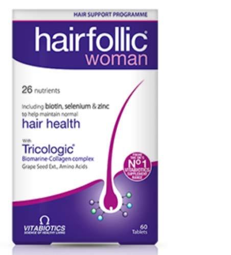 Vitabiotics Hairfollic Woman - 60 Tablets - Skin, Hair, Nails Supplements