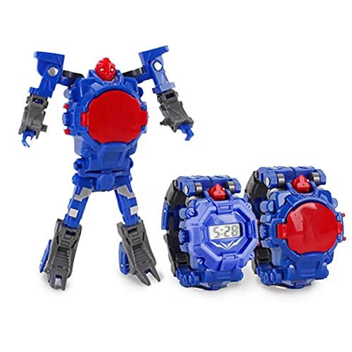 HANDAN Toy Watch Transformers Spielzeug Uhr Spielzeug 2 in 1 Verwandeln Roboterarm Spielzeug für Kinder Digitaluhr Elektronische Roboter Spielzeug Method