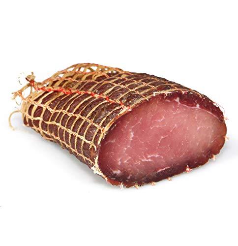Speck Kaiserteil Gustos, ein ganz besonderer Teil des Schweins, zart und mager, 400 Gr.