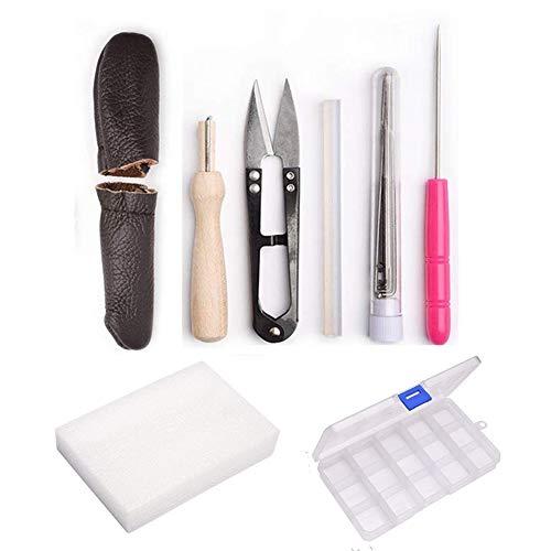 Needle Felting Craft Kit Set, 16 Pcs Wool Felt Tools with 7 Needles and Felting Foam kit Felting Mat Awl Needles by MOMODA
